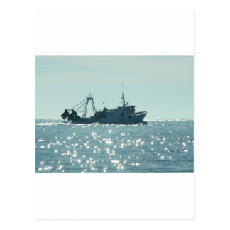 Pesca no mar Sparkling de A Cartão Postal