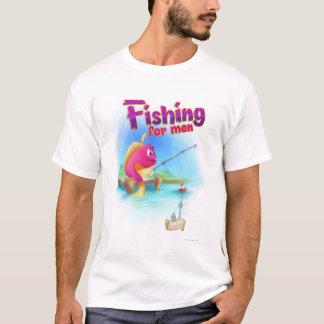 Pesca para a camisa dos desenhos animados dos