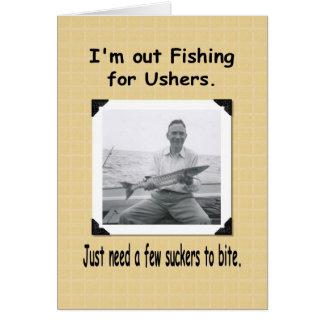 Pesca para arrumadores? cartão comemorativo