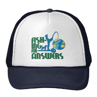 Pesca para o chapéu das respostas bone