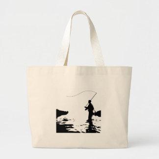Pescador da mosca bolsa