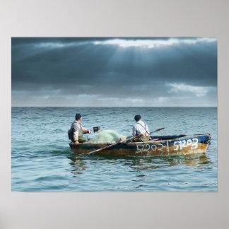 Pescador de Galilee - em Israel de Pescadores Gali Impressão