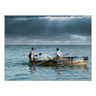 Pescador de Galilee - em Israel de Pescadores Gali Poster