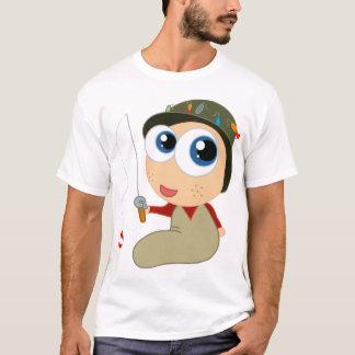 Pescador do bebê camiseta