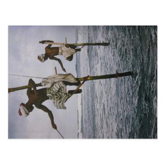 Pescador em Sri lanka cartão postal