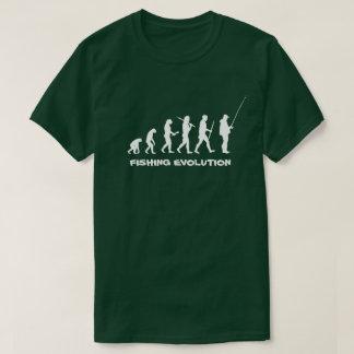 Pescador engraçado da evolução da pesca camiseta