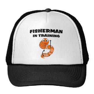 Pescador no treinamento bone