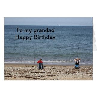 Pescadores a meu cartão do feliz aniversario do