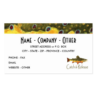 Pescadores da mosca da truta modelos cartões de visitas