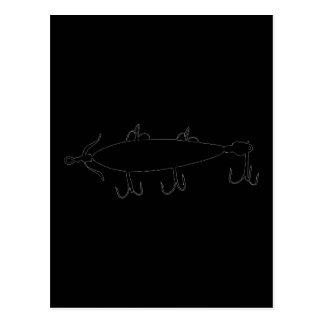Pescando a atração 2 mostre em silhueta a cartão postal