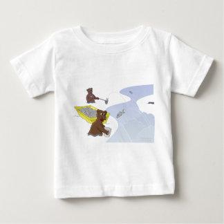 Pescando ursos - camisa Salmon de salto de T Camiseta