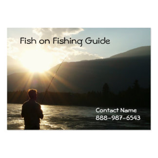 Pescar até o Sun vai para baixo Cartões De Visitas
