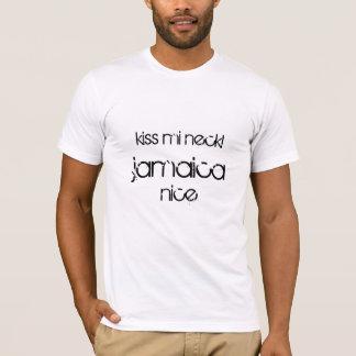Pescoço do MI do beijo! Jamaica agradável Camiseta