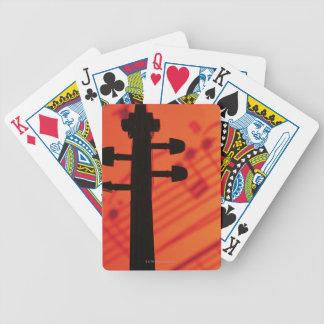 Pescoço do violino cartas de baralho