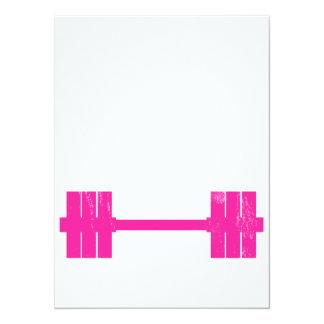 Peso do rosa quente convite 13.97 x 19.05cm