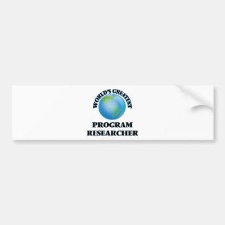Pesquisador do programa do mundo o grande adesivos