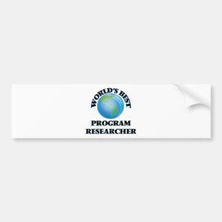 Pesquisador do programa do mundo o melhor adesivo