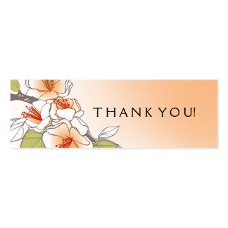 Pêssego de florescência do Tag do presente das Cartão De Visita Skinny