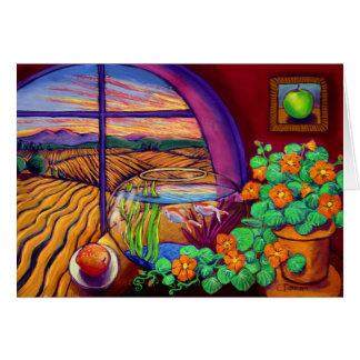 Pêssego e Apple Cartão