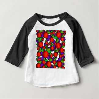 Pêssegos e ameixas camiseta para bebê