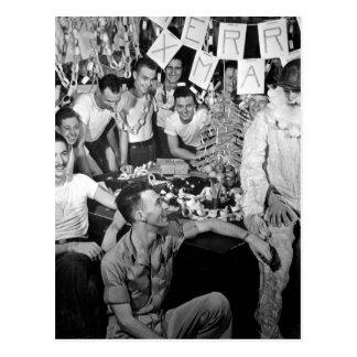 Pessoais da imagem celebrate_War de USS LEXINGTON Cartão Postal