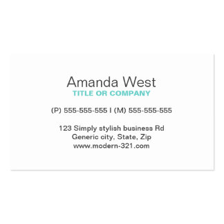 Pessoal elegante simples genérico moderno azul do  cartao de visita