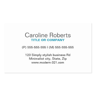 Pessoal elegante simples genérico moderno da cartão de visita