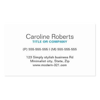 Pessoal elegante simples genérico moderno da cerce cartao de visita