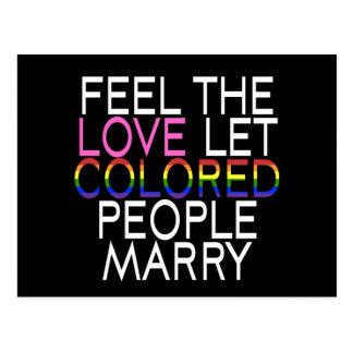 Pessoas coloridas deixadas do cartão do casado