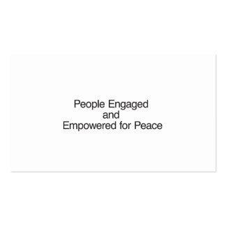 Pessoas contratadas e autorizadas para a paz cartoes de visitas