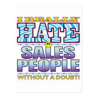 Pessoas da cara do ódio das vendas cartão postal