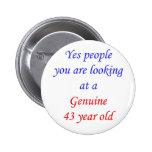 Pessoas de 43 anos 43 genuínas boton