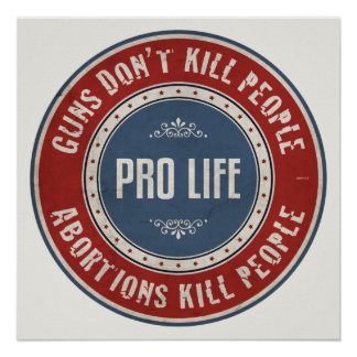 Pessoas do matar dos abortos pôster