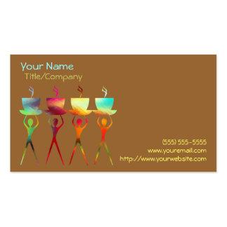 Pessoas do modelo de cartão de negócios do arco-ír modelo cartoes de visitas