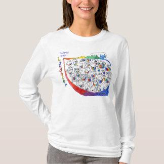 Pessoas dos desenhos animados que riem camisetas