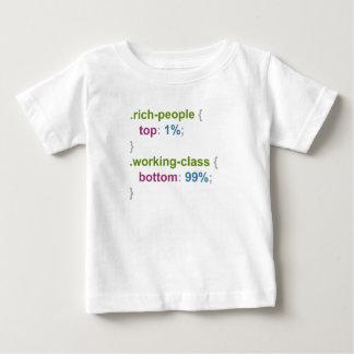 Pessoas e classe trabalhadora ricas camiseta para bebê