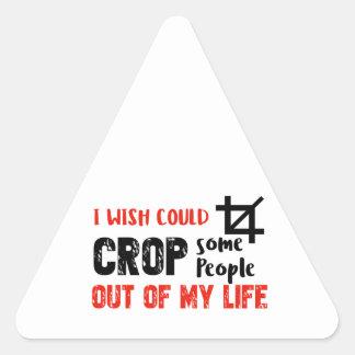Pessoas engraçadas do design do geek da colheita adesivo triangular