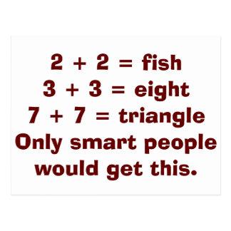 Pessoas espertas dos cartão da matemática