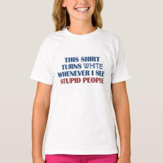 Pessoas estúpidas da camisa do humor - escolha o