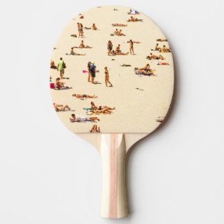 Pessoas na praia Sandy Raquete Para Ping Pong