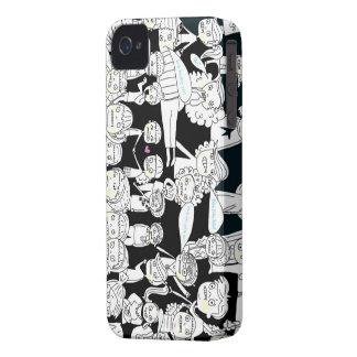 pessoas preto e branco do zombi capas para iPhone 4 Case-Mate
