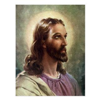 Pessoas religiosas do vintage, retrato do Jesus Cr Cartão Postal