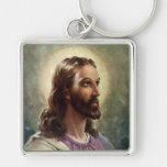 Pessoas religiosas do vintage, retrato do Jesus Cr Chaveiro