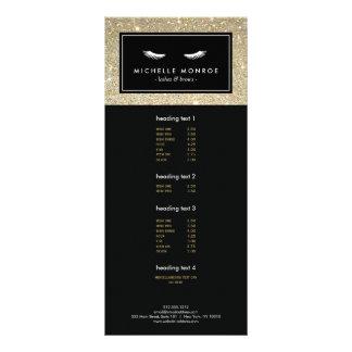 Pestanas com o cartão da cremalheira do brilho do 10.16 x 22.86cm panfleto