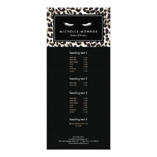 Pestanas com o cartão da cremalheira do impressão 10.16 x 22.86cm panfleto