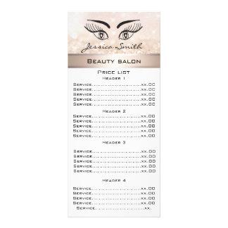 Pestanas elegantes & cartão glittery do menu da 10.16 x 22.86cm panfleto