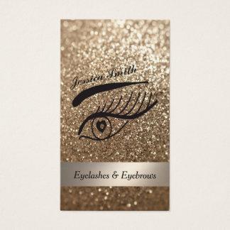 pestanas glittery elegantes glamoroso & cartão de visitas