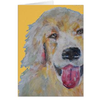 Pet o ouro Retreiver do cartão de simpatia do cão
