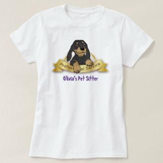 Pet o t-shirt do baby-sitter/Groomer/caminhante -