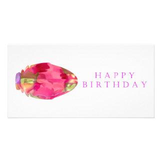 Pétala de cristal de RedRose PinkRose do feliz ani Cartão Com Foto